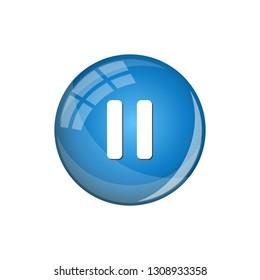 Modern Pause Icon Button Logo