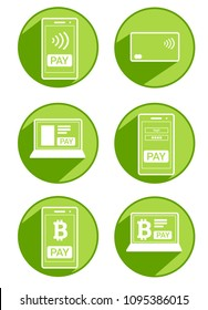 Modern payment methods icons