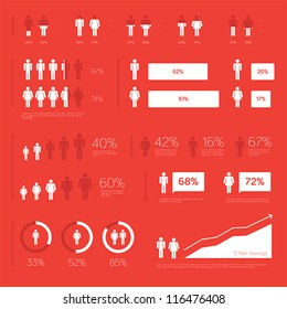 Modern people infographic elements for presentation and design.