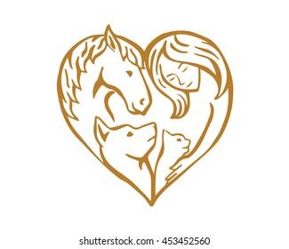 Modern Pet Logo - Pet Family Veterinary
