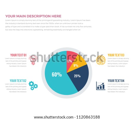 modern pie chart infographics pie chart stock vector royalty free