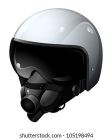 the modern pilot helmet