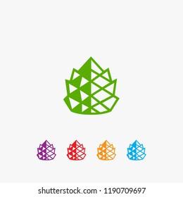 modern pineapple logo vector, pineapple icon te,plate