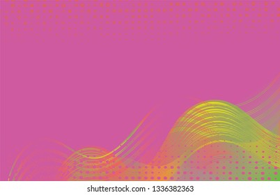 Modern pink abstract background design  made of flowing wavy colorful lines and shapes. Jpg and Vector illustration, editable can be used on promotional materials like brochures or posters.