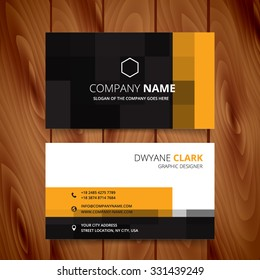 modern pixel business card vector design