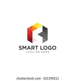 Modern Pixelated Logo Template Vector