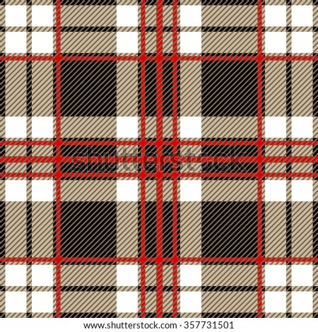 7c37ac2fb79b6 Modern plaid seamless checkered vector pattern. Retro textile collection.  Black