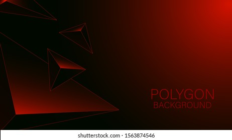 Modern polygonal gradient red background illustration. Use for modern design, cover, template, decorated, brochure, flyer