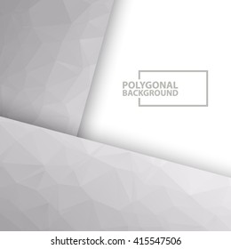 Modern polygonal gray triangle abstract vector background