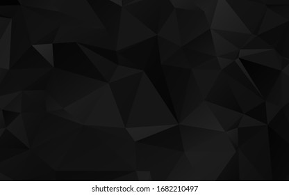 Modern Polygonal shapes background, low poly triangles mosaic, black crystals backdrop, vector design wallpaper. High technology concept.