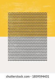 Modern Poster Art. Abstract Wall Art. Digital Interior Decoration Art with Grunge texture. Vector EPS 10.