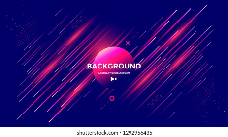 Modern poster design with dynamic gradients lines and shapes. Vector abstract geometric trendy illustration