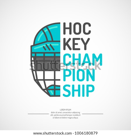 Modern Poster Ice Hockey Championship Puck Stock Vector
