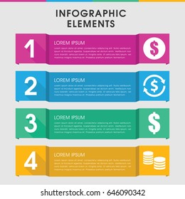 Modern pound infographic template. infographic design with pound icons includes money, dollar. can be used for presentation, diagram, annual report, web design.