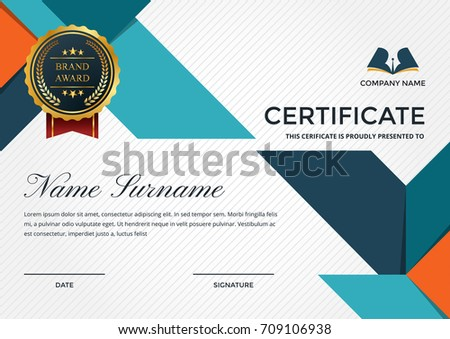 modern premium company certificate achievement appreciation の
