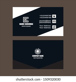 Modern presentation card. Vector business card. Visiting card for business and personal use. Vector illustration design.