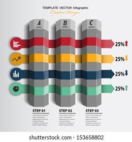 modern presentation of data / business infographics / vector background