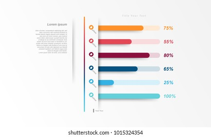 Modern presentation template chart, graph for use in business plan on white background. vector design infographic elements style.