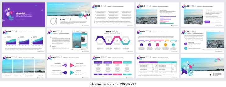 Modern Presentation templates elements on a white background. Vector infographics. Use in Presentation, flyer and leaflet, corporate report, marketing, advertising, annual report, banner.