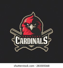 Modern professional baseball cardinals logo for sport team