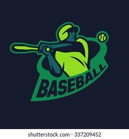 Modern professional baseball logo for sports team.