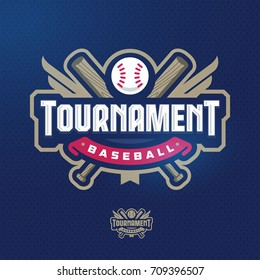 Modern professional baseball template logo design for a sport events