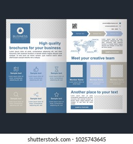 Modern professional brochure for multi purpose ready to print