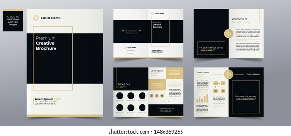 modern professional brochure pages design template