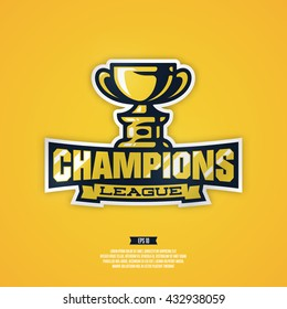 Modern professional champion sports league vector logo.