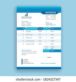 modern and professional clean, minimal abstract business invoice template format