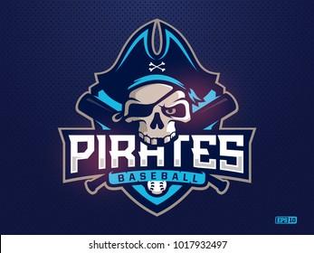 Modern professional emblem pirates  for baseball team
