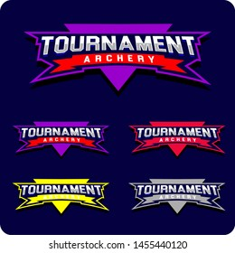 Modern professional emblem Turnament archery Sports, Typography