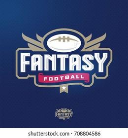 Modern professional fantasy football sports template logo design