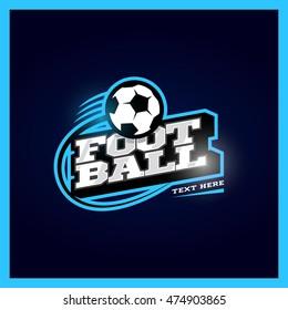 Modern professional football template logo design with ball