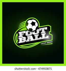 Modern professional football template logo design with ball