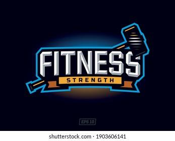modern professional gym sport theme logo emblem