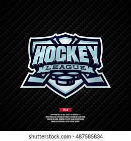 Modern professional hockey league template logo design.
