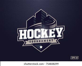 Modern professional hockey logo for sport team.