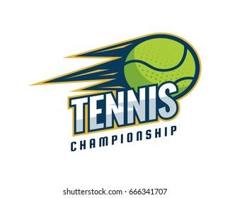 Modern Professional Isolated Sports Badge Logo - Tennis Championship