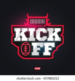Modern professional kickoff football template logo design