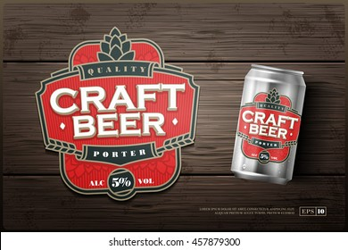 Modern professional label logo design template for a craft beer