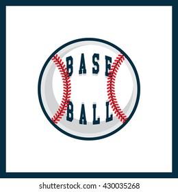 Modern professional logo for a baseball league. Sport style logo. T-shirt emblem