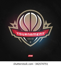 Modern professional logo for basketball game events