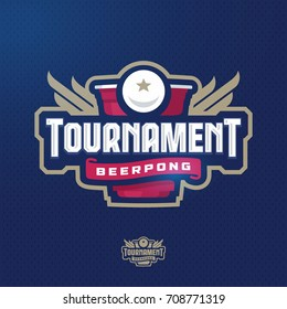Modern professional logo for a beer pong tournament