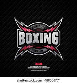 Modern professional logo design for a Boxing club.