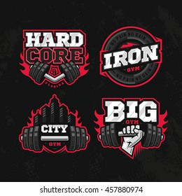 Modern professional logo design set for a GYM or a Fitness Centre