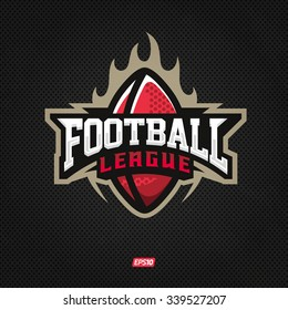 Modern professional logo for a football league