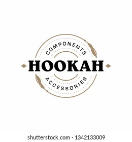 Modern professional logo hookah in gold and white theme