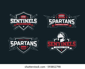 Modern professional logo set  for a sport team