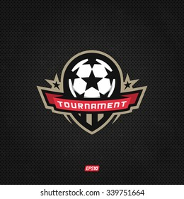 Modern professional logo for a soccer tournament